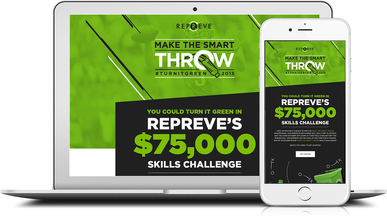 Make the Smart Throw Microsite